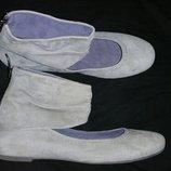 39р-25 см замша серые балетки Tamaris