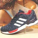 кроссовки мужские adidas zx flux синий-красн 41р-45р
