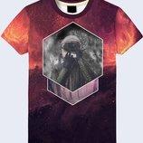 Прикольная 3D футболка Cosmonaut in space
