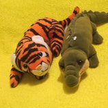 Тигр.тигрик.крокодил.мягкая игрушка. мягка іграшка.мягкие игрушки.Deagostini