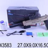 Пистолет на аккумуляторе, стреляет водяными пулями, в коробке 27,0 16,5 9,0см