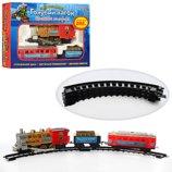 Супер Железная дорога длинной 282 см, Дым,свет,песня поезд