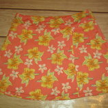 Стрейчевая пляжная мини-юбка с запахом XS-S, M. 44