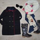 Фирменное очень крутое теплое пальто стильной девочке 3 года 98 см Геп Gap
