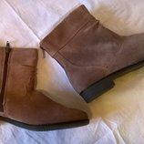 Удобные замшевые ботинки ботильоны 40р. 26 см. Esmara, цвет кэмэл