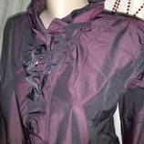 Шикарная блуза с жабо разм 52 пог-54см