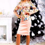 Элегантный женский нарядный костюм 220 Совы в расцветках.