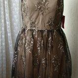 Платье вечернее гипюр Little Mistress р.48 7479