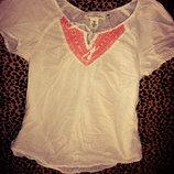 Вышиванка белая блузка 12-15 лет ширина 43