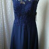 Платье шикарное вечернее в пол Luxuar р.46-48 7486