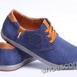 Philipp Plein мужские туфли из натурального нубука синие