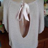 Вязаная из акрила блуза с открытой спинкой 48-50-52р