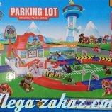 Гараж паркинг Щенячий Патруль/paw Petrol 6699 2 машинки дорожные знаки