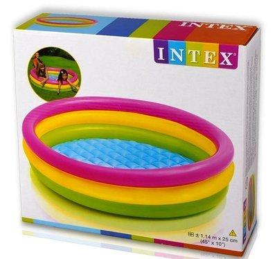 Детский надувной бассейн Intex 57412 Радуга 114х25 см