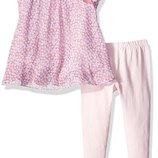 нежный костюм двойка Lavender туника и лосины на девочку 2 года
