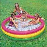 Детский надувной бассейн Радуга Интекс 147х33см, от 3 лет Intex 57422