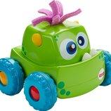 Fisher Price Инерционная машинка-монстр зеленая Press 'n Go Monster Truck Green DRG15