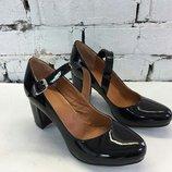 Туфли лодочки натуральная кожа с ремешками размер 36-41