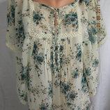 Оригинальная блуза с кружевом