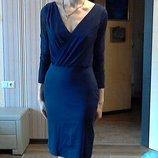синее платье р.36-38