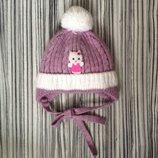 Зимняя шапочка на девочку Хелло Китти р.40-42 50% шерсть 50% акрил