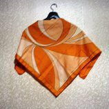 Шарф платок 77 х 76 см косынка, летний, нарядный,