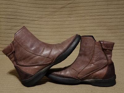 Чудесные комбинированные кожаные полусапожки Camel Active 4 1/2 р.