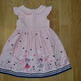 Нарядное платье на 9-12м.