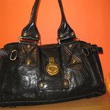 Шикарная женская сумка 100% кожа FRANCESCO BIASIA Италия.
