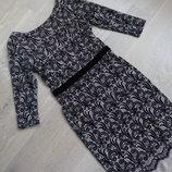 платье женское 8 и 10 рр вечернее стильное велюр бархат фирменное кружево Next Некст