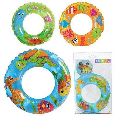 Надувной круг для плавания Intex 59242, 3 вида 61см