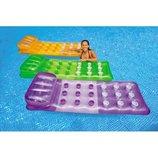 Надувной пляжный матрас шезлонг Intex 58890 188х71см, 3 цвета