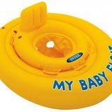 Детский надувной плотик Intex 56585 Мой детский плотик размер 70см, от 6 до 12 месяцев