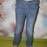джинсы Benetton утеплённые хлопком на 4-5 лет б/у