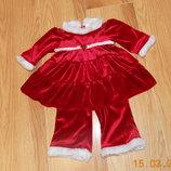 Новогодний костюм George для девочки 6 месяцев. 68 см