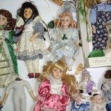 Цена за 11.Винтажная коллекционная фарфоровая кукла куколка Genuine Porcelain Special опт фарфор