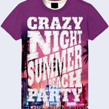 Отличная 3D футболка Сумасшедшая ночь