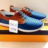 Распродажа- Кожаные летние спортивные туфли Тм Golderr 36-41 р.р.