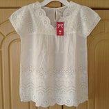 Новая шикарная белая блузка Тм Мах на 11-12 лет