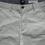 Мужские штаны брюки бежевые песочные стрейч H&M 180 / 92 A