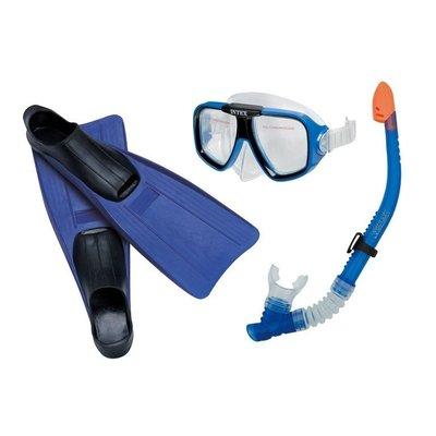 Набор для плавания маска, трубка, ласты Intex 55957 38-40 размера