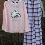 Женская пижама флис байка. размер s . primark