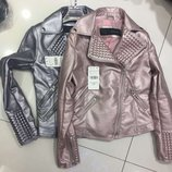 Женская стильная кожаная куртка