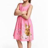 Летнее платье на девочку 1 2 3 4 5 6 7 8 лет от H&M Размер 92, 98/104, 110/116, 122/128
