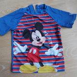 купальник 116 см футболка защита от солна микки маус Disney Дисней