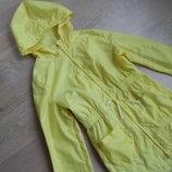 куртка детская 9-10 л желтая девочке ветровка пальто длинная Young Dimension Янг Дайменшн