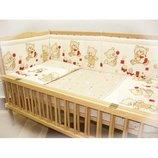 защита для детской кроватки защитное ограждение в детскую кроватку 2 части бампер бортики бортик