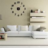 Настенные часы - стикеры с 3D-эффектом арабские цифры
