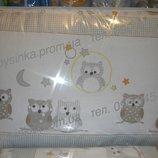 защита для детской кроватки в кроватку защитное ограждение бортики бампер 35 см со съёмными чехлам