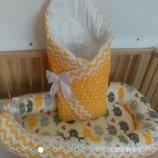 кокон люлька гнездышко позиционер для новорожденного, для совместного сна